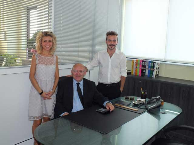Enzo Mombelli con i figli Marzia e Nicolò