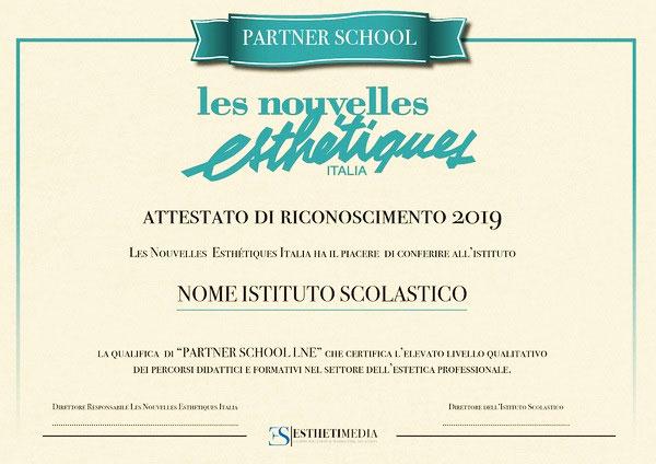 certificato Les Nouvelles Estetiques