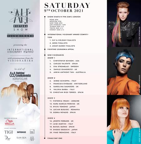 Programme Alternative Hair Show of Sunday 19th October 2021
